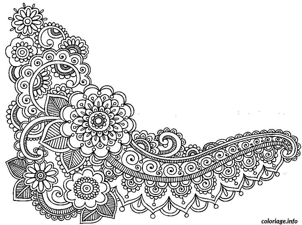 Dessin dessin adulte antistress inspiration zen 63 Coloriage Gratuit à Imprimer