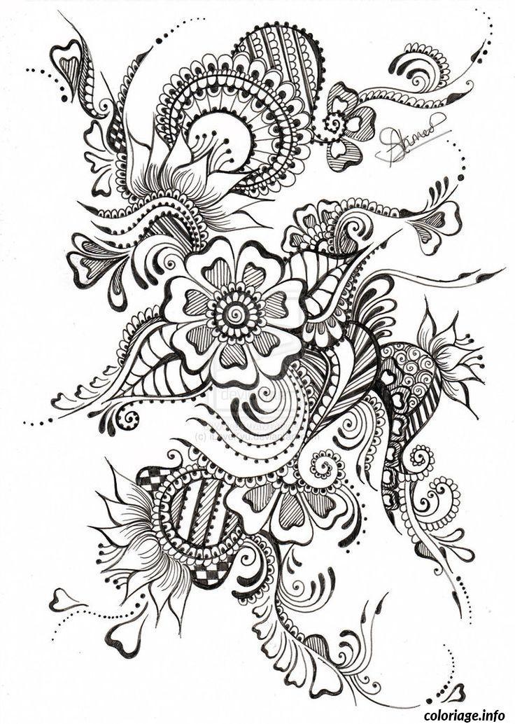 Dessin dessin adulte antistress inspiration zen 80 Coloriage Gratuit à Imprimer