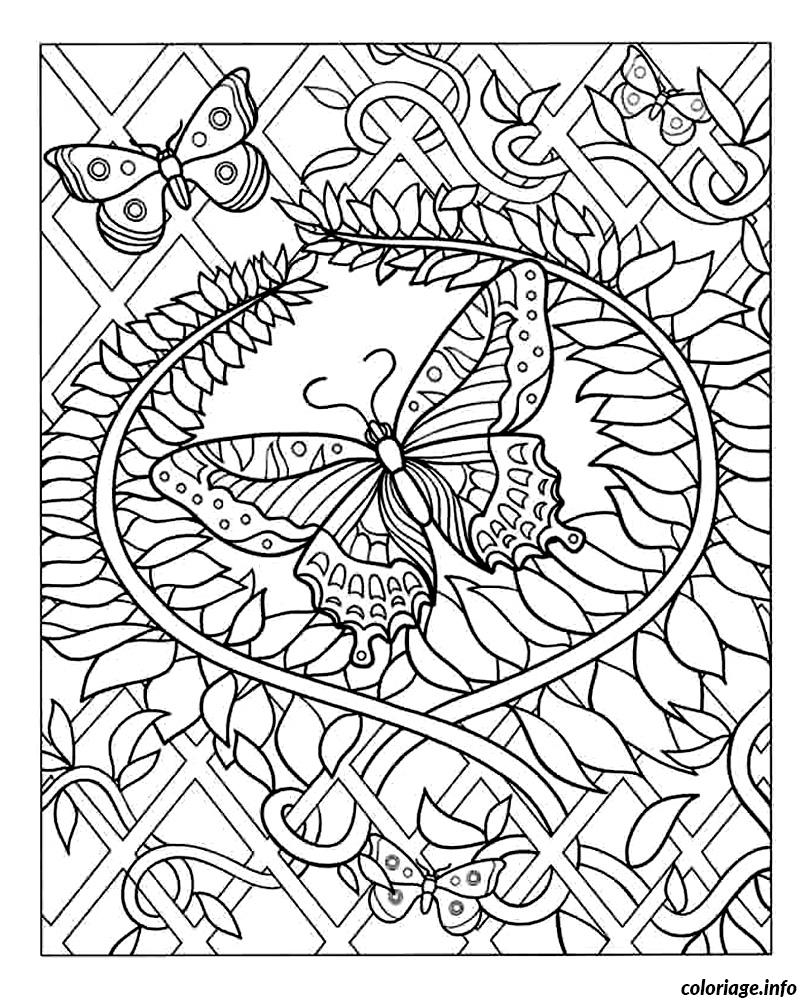 Coloriage difficile adulte papillon - Coloriage adulte difficile ...