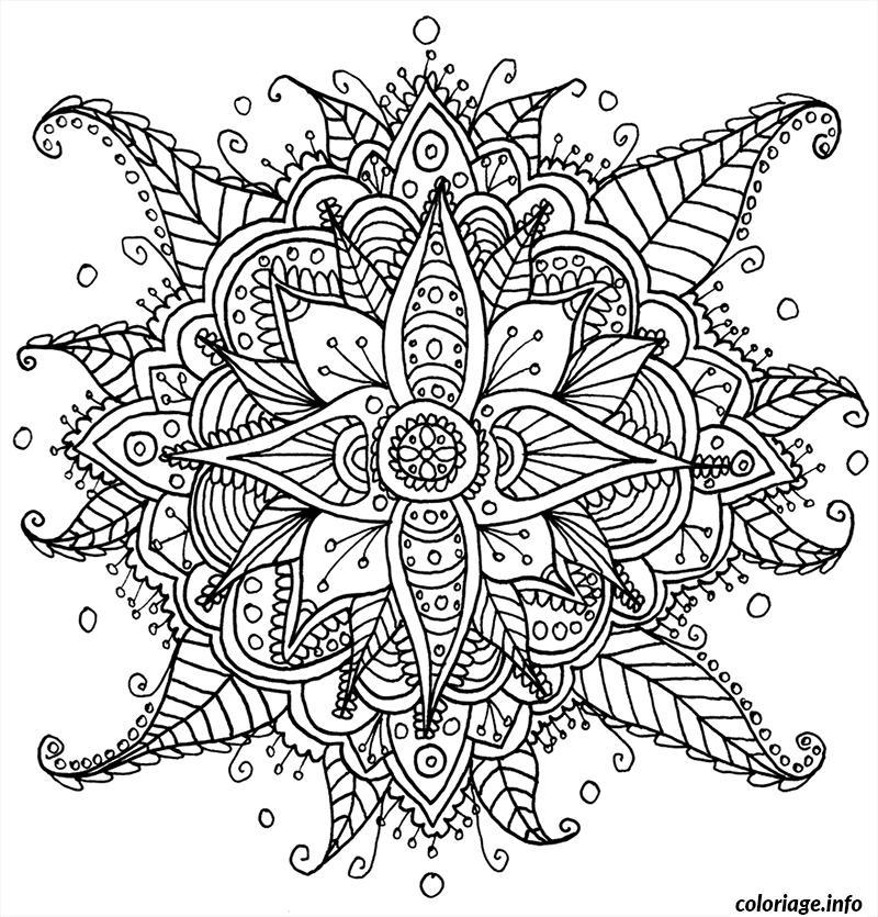 Coloriage Difficile Mandala Adulte Dessin Difficile A Imprimer