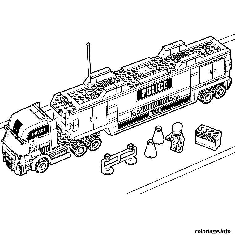 Coloriage lego police dessin - Lego city a colorier ...