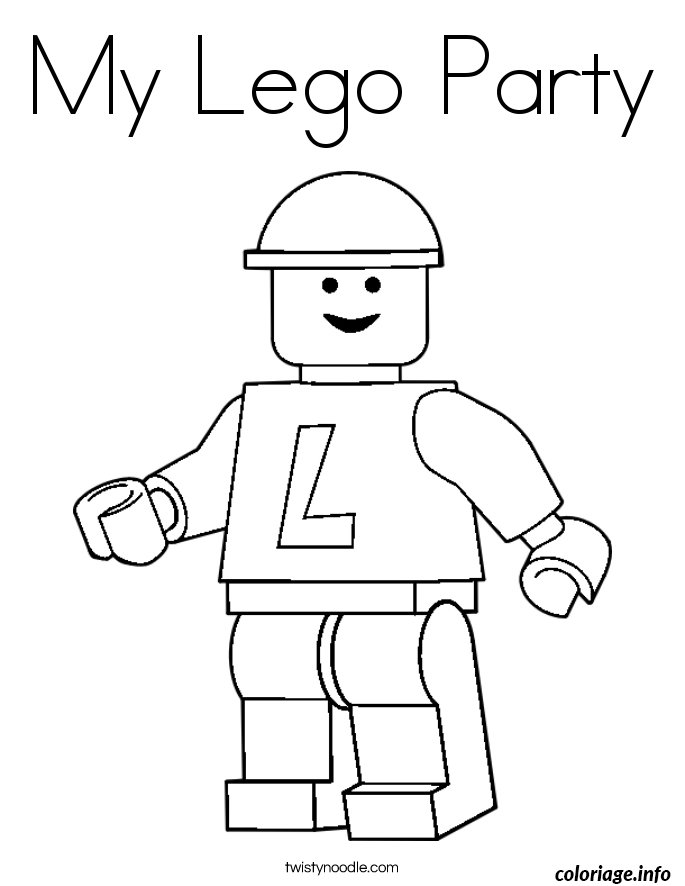 Coloriage My Lego Party Dessin à Imprimer