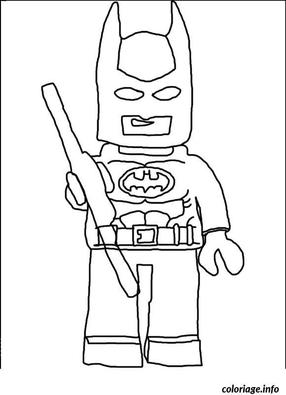 Coloriage lego batman de face - Coloriage a imprimer batman gratuit ...