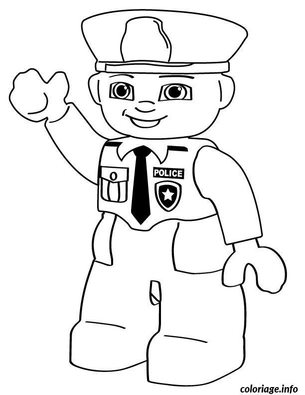 Coloriage lego police man - Coloriage a imprimer police ...