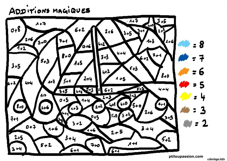 Dessin magique addition 27 Coloriage Gratuit à Imprimer