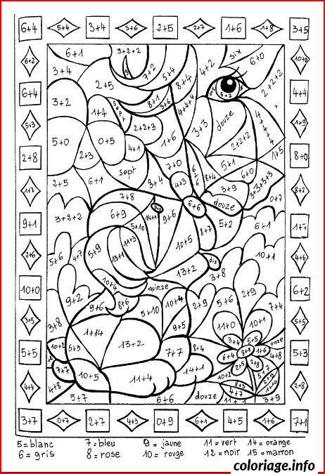 Dessin magique addition 56 Coloriage Gratuit à Imprimer