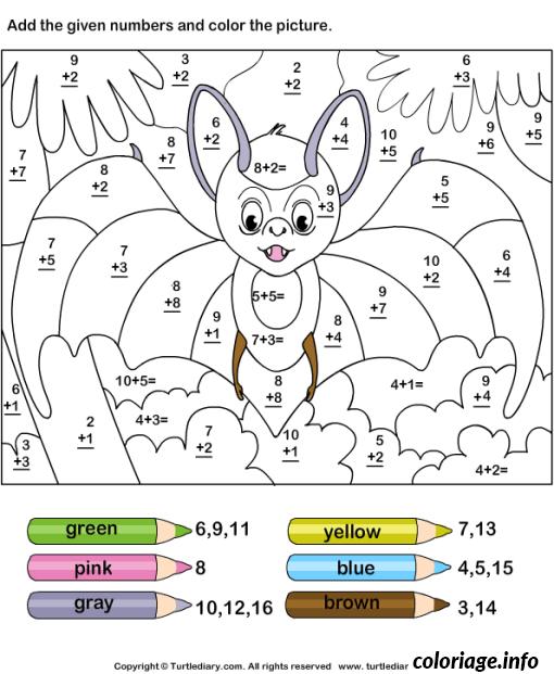 Dessin magique addition 26 Coloriage Gratuit à Imprimer
