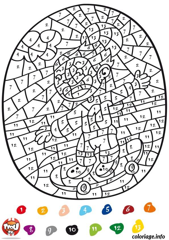 Dessin magique addition 147 Coloriage Gratuit à Imprimer