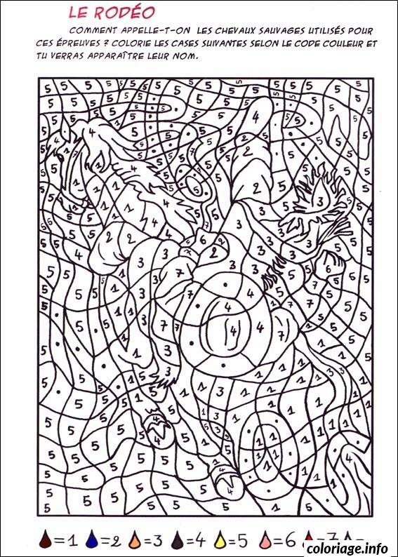 Coloriage magique cheval le rod o dessin for Multiplication cheval