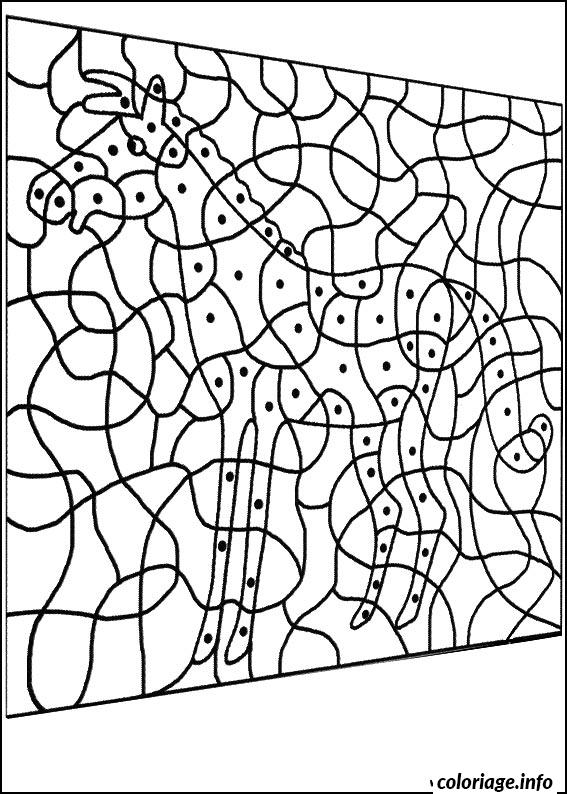 Coloriage magique cheval facile maternelle dessin - Dessin facile de cheval ...
