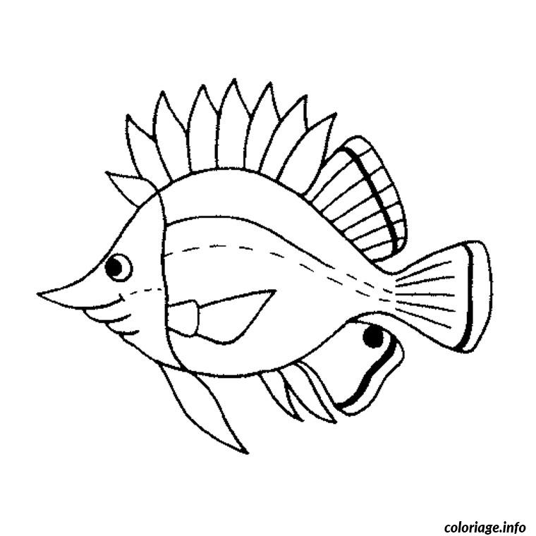 Coloriage Poisson Mer Dessin