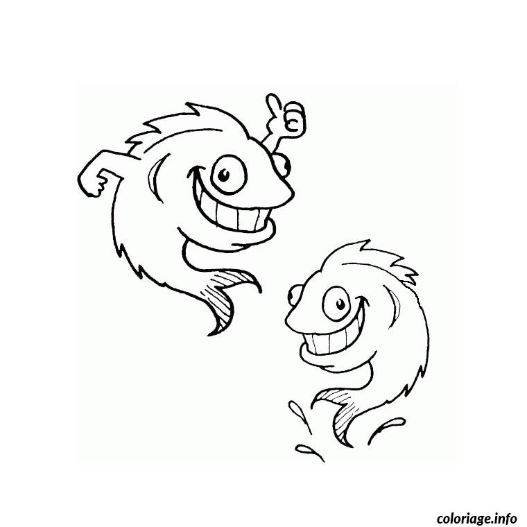 Coloriage poisson rigolo dessin - Dessin de poisson a imprimer gratuit ...