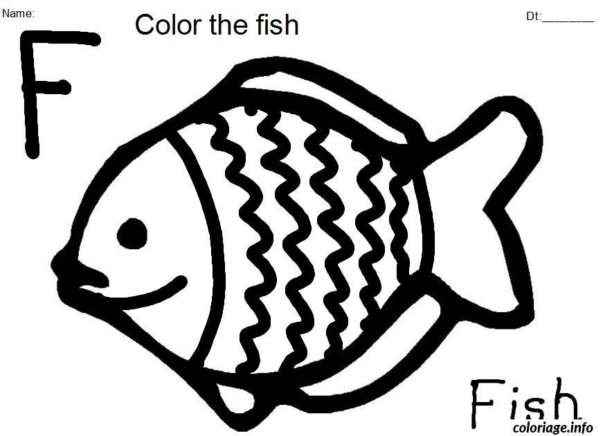 Coloriage poisson 270 dessin - Dessin enfant poisson ...