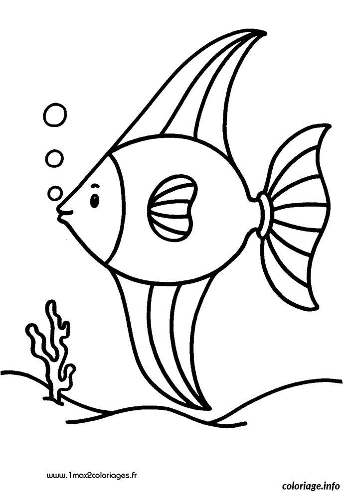 Coloriage poisson 223 - Dessin de poisson ...