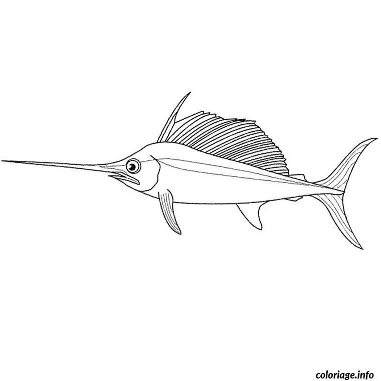 Coloriage poisson scie - Dessin de poisson ...