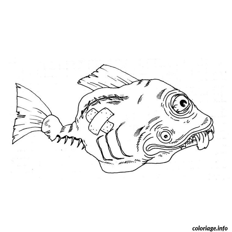Coloriage poisson barracuda - Dessin de poisson ...