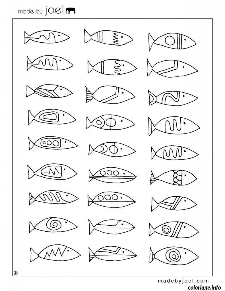 Coloriage Poisson Davril A Colorier.Coloriage Poisson Davril 140 Jecolorie Com