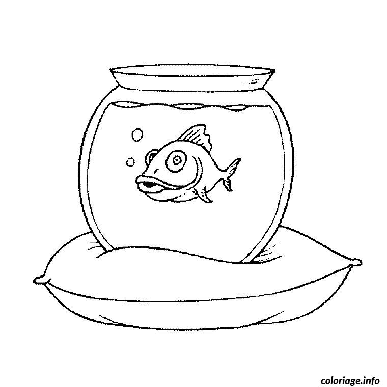 Coloriage aquarium poisson dessin for Aquarium poisson rouge dessin