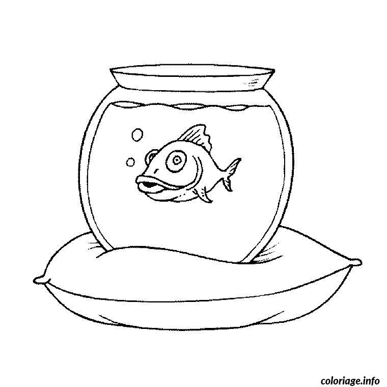 Coloriage aquarium poisson dessin - Coloriage de poisson a imprimer ...