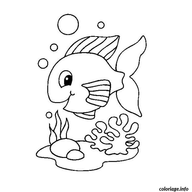 Coloriage poisson rouge dessin for Aquarium poisson rouge dessin