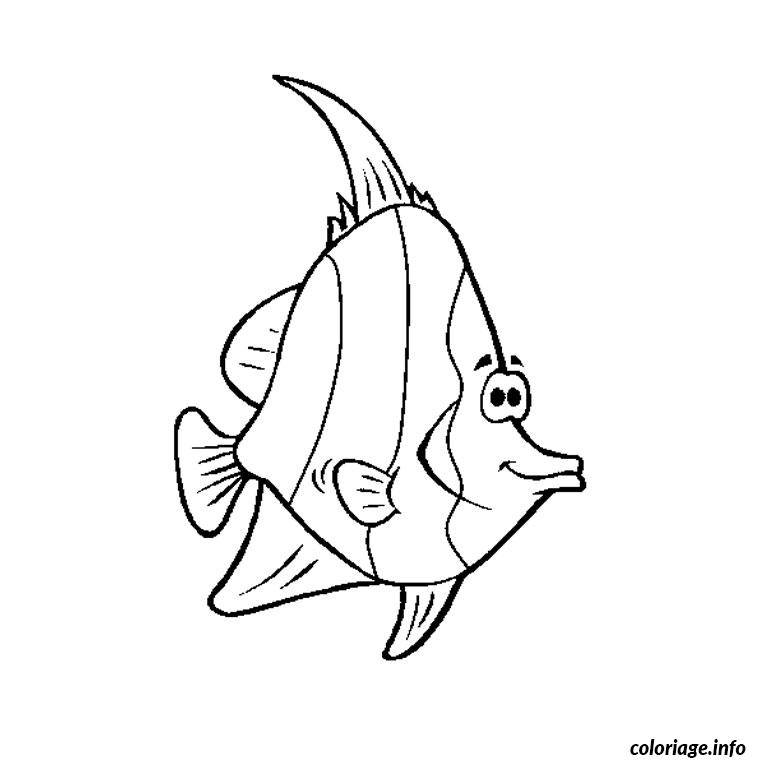 Coloriage poisson tropical dessin - Poisson coloriage ...