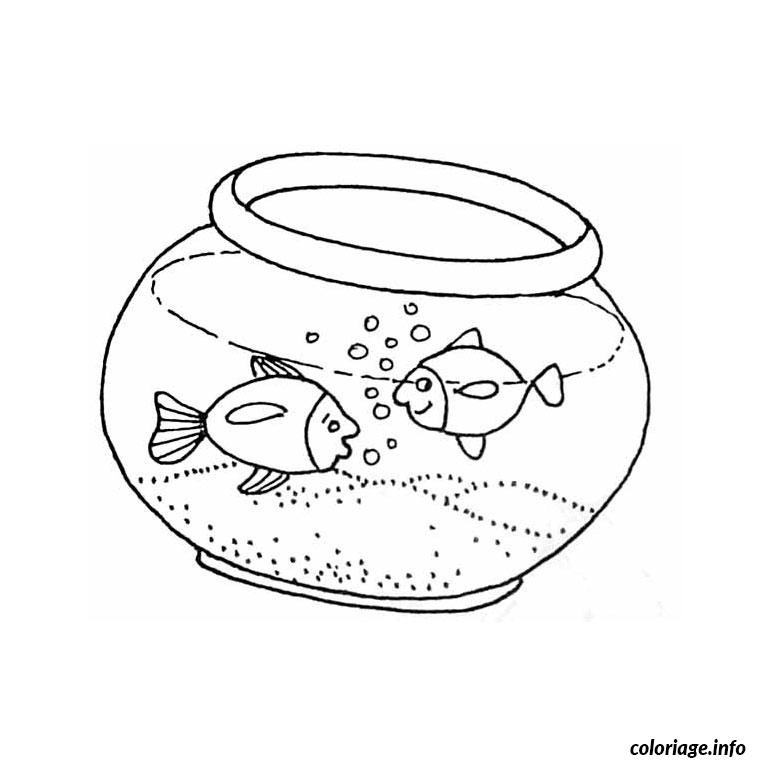 Coloriage poisson aquarium dessin for Aquarium poisson rouge dessin