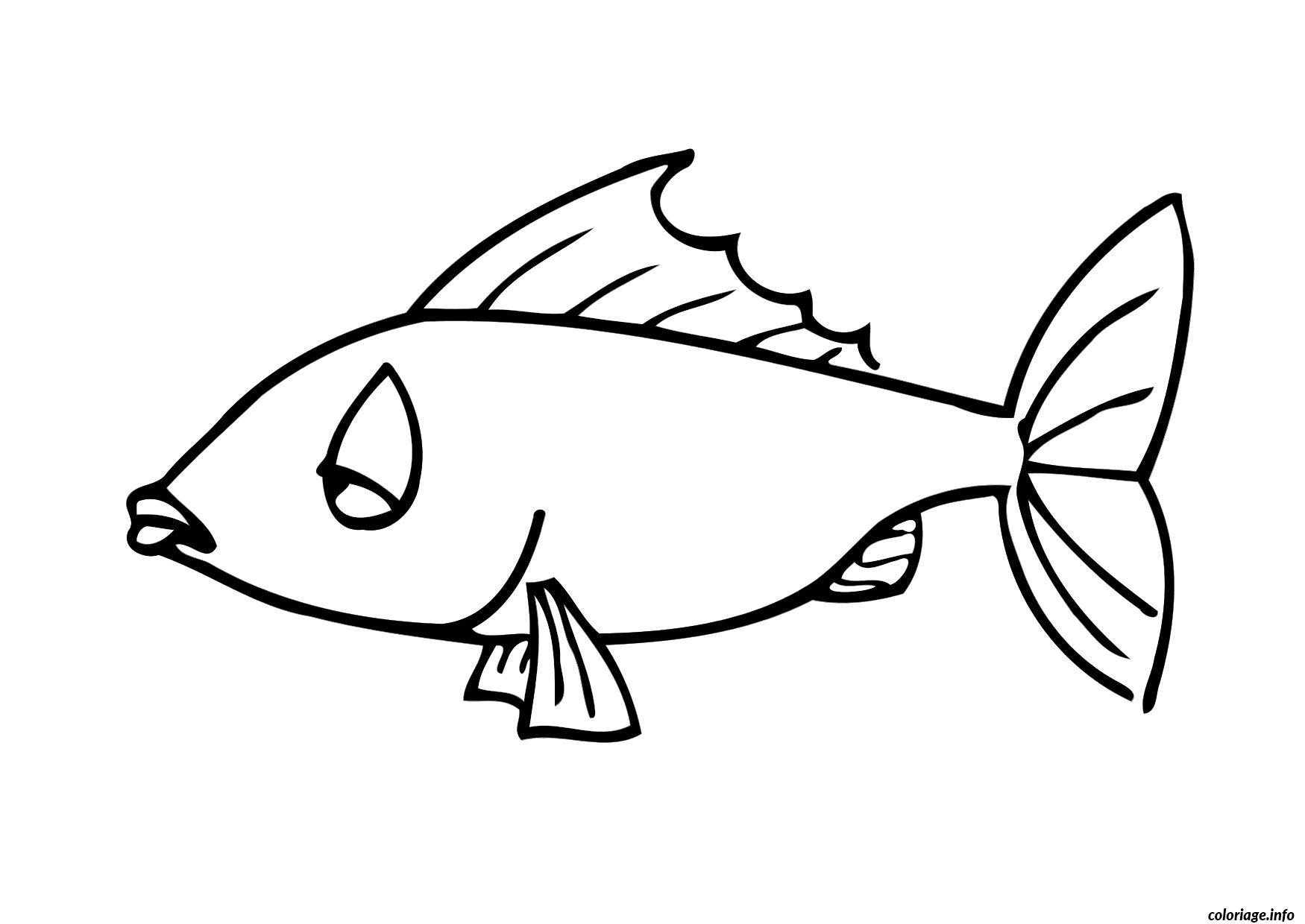 Coloriage poisson 17 dessin - Dessin poisson simple ...