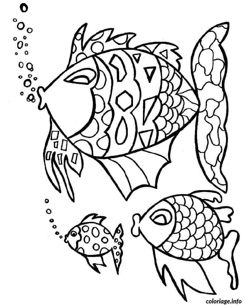 Coloriage poisson 174 dessin - Poisson dessin ...