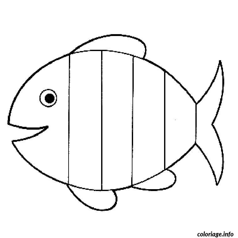 Coloriage poisson maternelle dessin - Dessin poisson ...