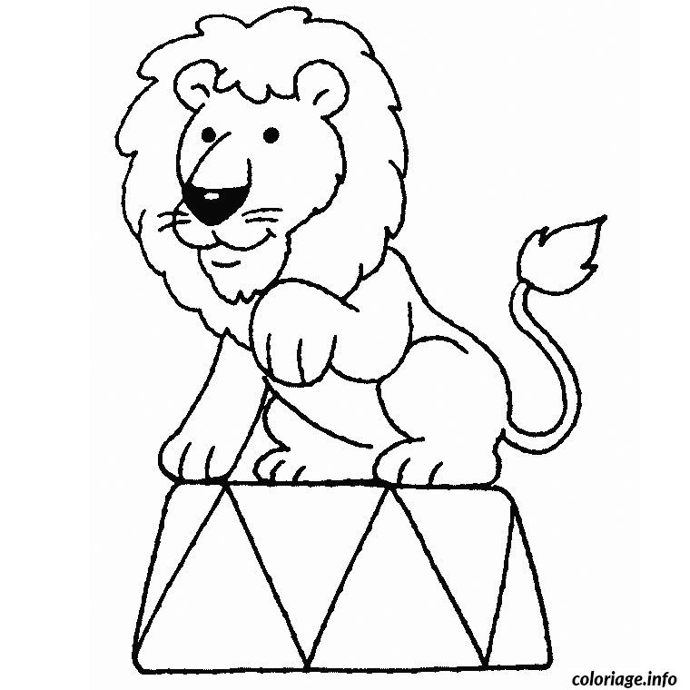 Coloriage cirque lion dessin - Coloriages lion ...