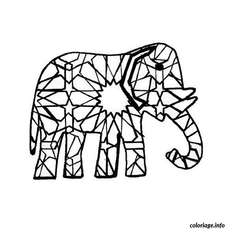 elmer l elephant bariole coloriage