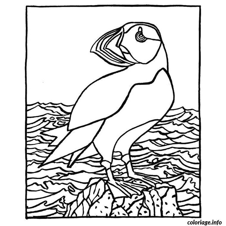 Coloriage oiseaux marins dessin - Dessins de mouettes ...