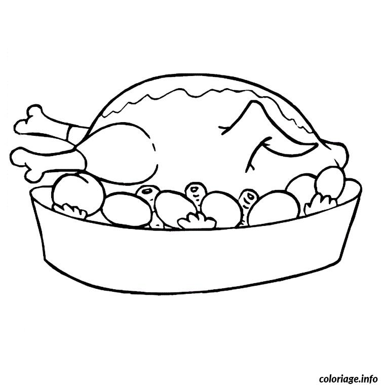 Thanksgiving turkey coloring pages printables sketch - Poulet dessin ...