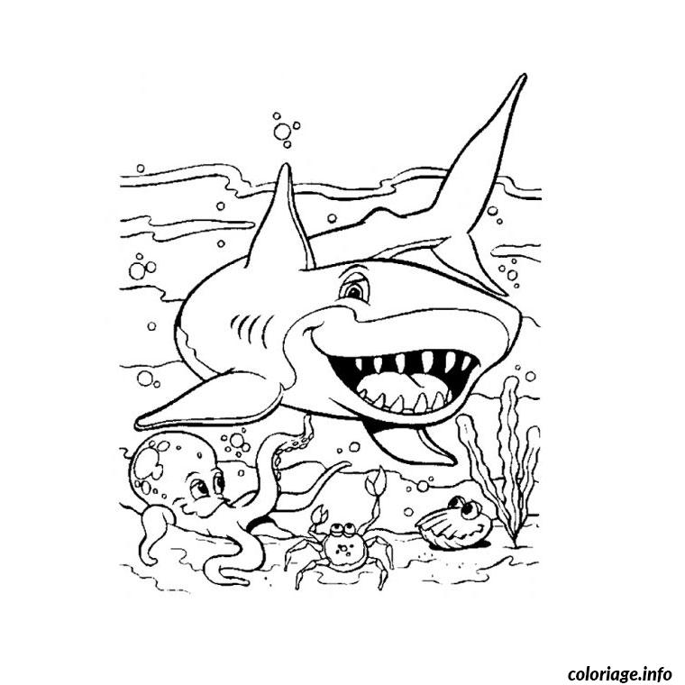 Coloriage requin dessin - Requin en dessin ...