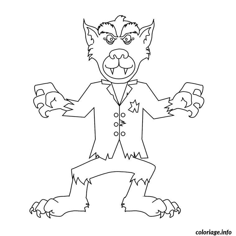 Coloriage gentil loup garou dessin - Dessin loup garou ...