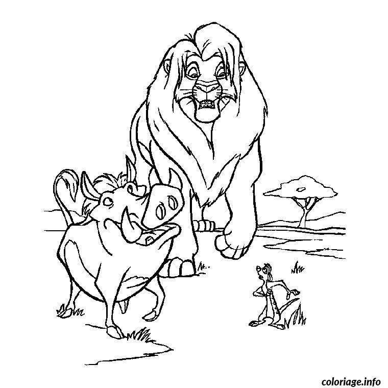 Coloriage roi lion 3 dessin - Roi lion dessin ...