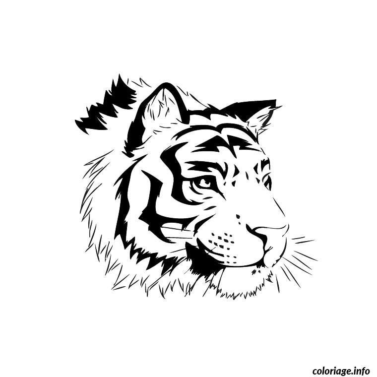 Coloriage En Ligne Gratuit Tigre.Coloriage Tigre Du Bengale Dessin