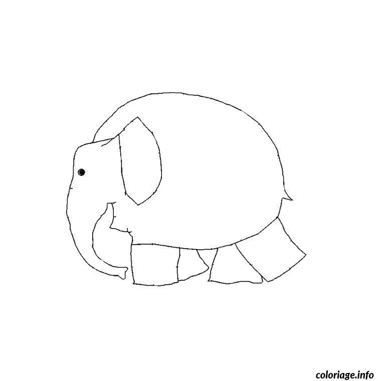Coloriage elmer l elephant dessin - Coloriage elmer a imprimer ...