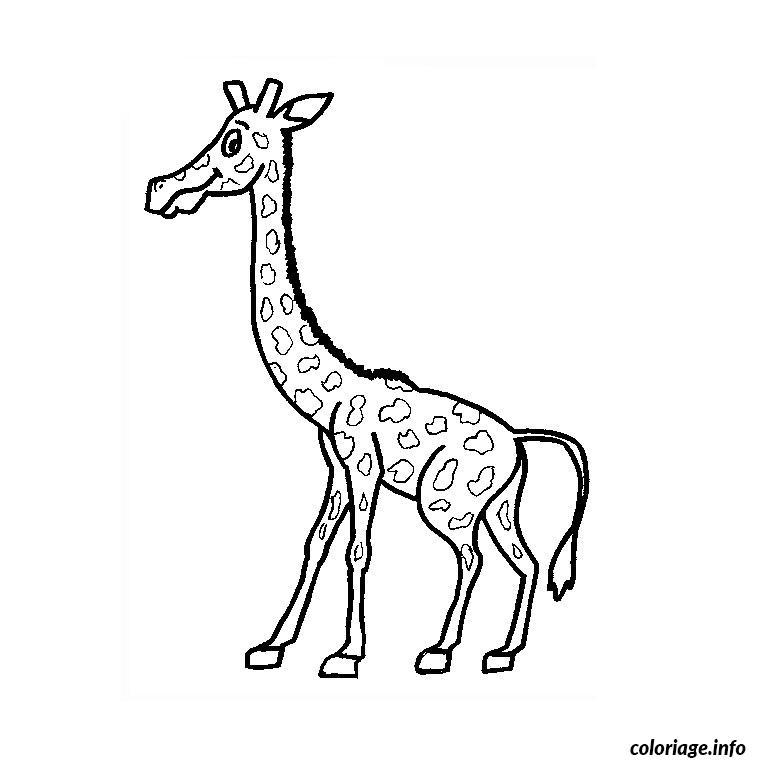 Coloriage Girafe Rigolote Dessin