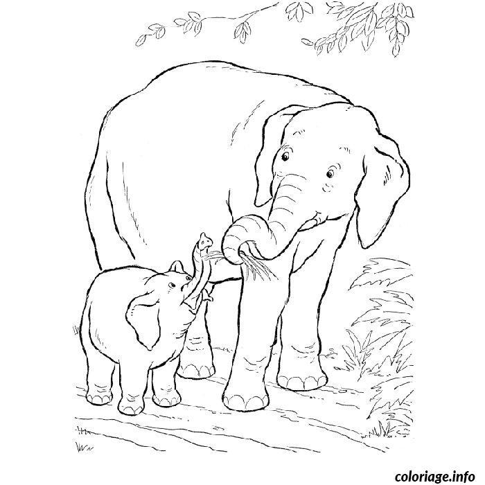 Coloriage elephant savane dessin - La savane dessin ...
