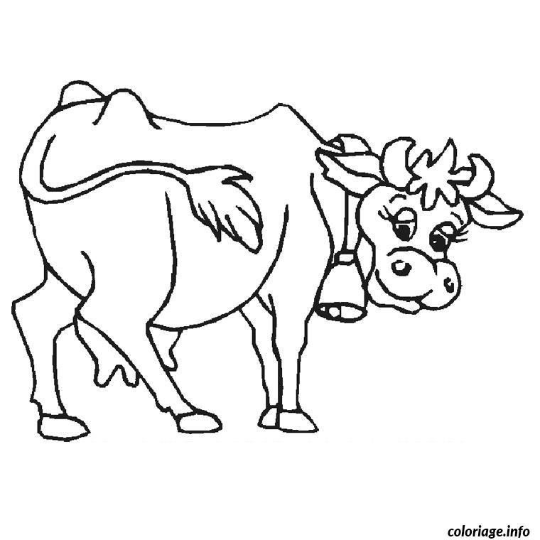 Coloriage De Mandala De Vache.Coloriage Vache Dessin