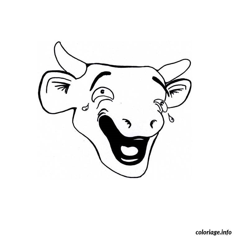 Coloriage vache qui rit dessin - Dessiner une vache ...