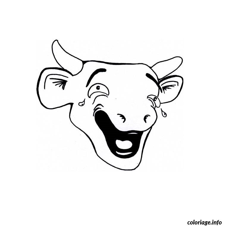 Coloriage vache qui rit dessin - Vache en dessin ...