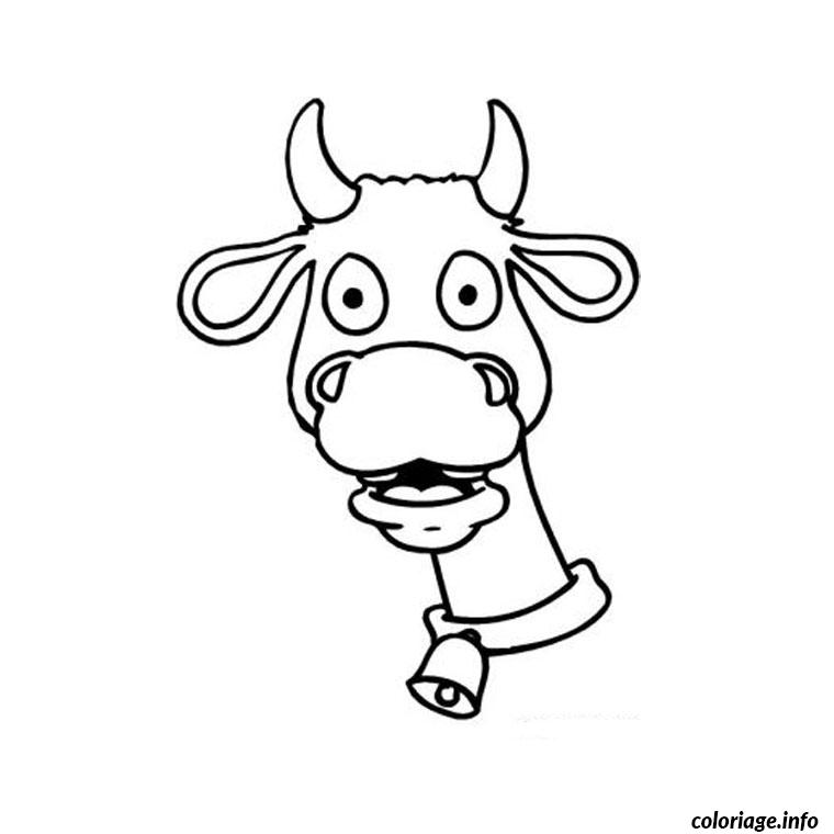 Coloriage Vache Rigolote dessin