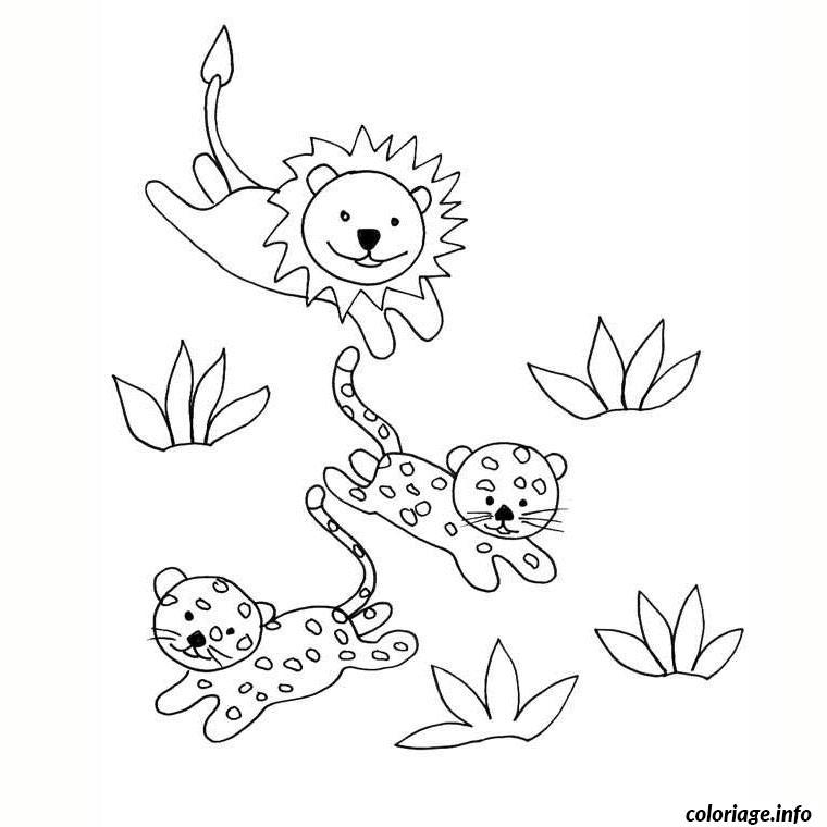 Coloriage lion et tigre dessin - Image dessin tigre ...