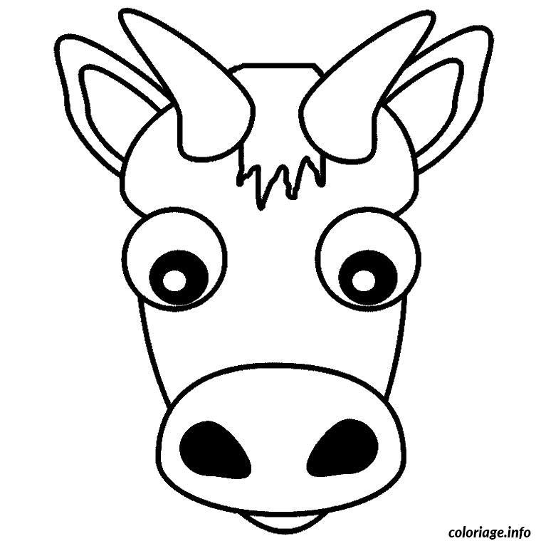 Coloriage tete de vache - Vache a imprimer ...