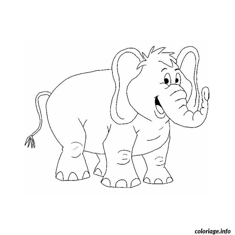 Coloriage Elephant dessin
