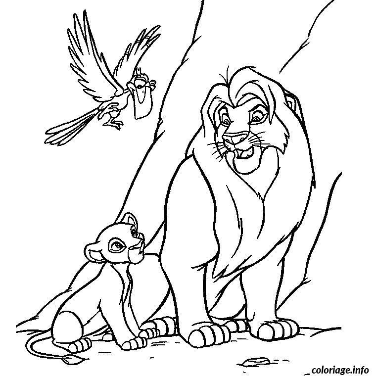 Coloriage Le Roi Lion 1 Dessin Animaux à imprimer