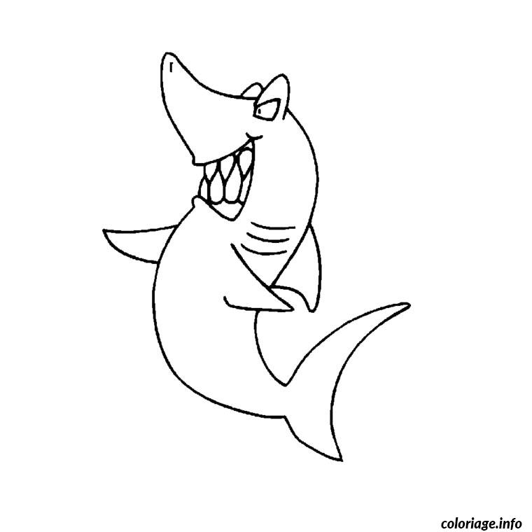 Coloriage requin pelerin - Dessin requin facile ...
