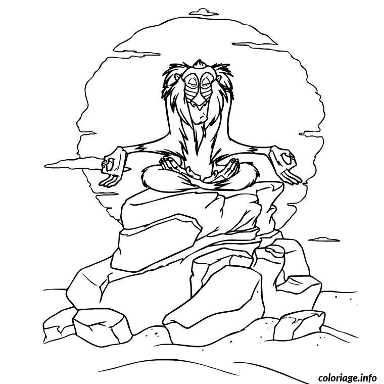 Coloriage Le Roi Lion 3 Dessin Animaux à imprimer